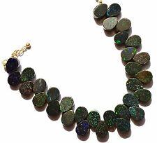 "Natural Australian Matrix Opal Multi Pin Fire 10x8MM Pear Shape Bead Bracelet 7"""