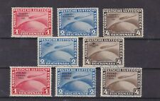 germany 1930 Sc C38/45 zeppelin,three sets,used,Forgery    q1822