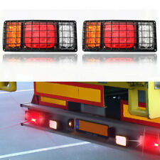 2x12v/24V 32 LED Tail Lights Ute Trailer Truck Caravan Stop Reverse Indicator AU