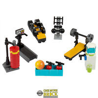 LEGO Gym set - Inc treadmill, weight bench, water cooler, 122 pieces