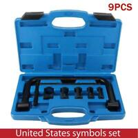 Engine Overhead Valve Spring Compressor Set Installer Removal Tool Kit For Car