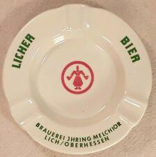 Rare ~ Vintage ~ Licher Bier Porcelain Ashtray ~ Germany