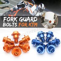 Set 6 Pcs CNC Bolt Fork Guard For KTM 65SX 85SX 2003-2015 KTM125-530  DYY!