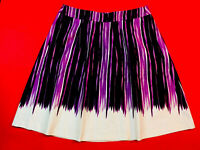 ANN  TAYLOR ... Cotton  Lined  Flare  Skirt ... Purple & White ... Size 14