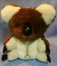 Vintage R. Dakin Koala Bear Plush & Neck Chain Made In Japan