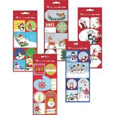 3 Pk Assorted Peel & Stick Christmas Holiday Gift Tags @ 18/Pk 972255