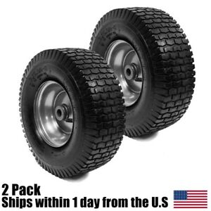 2PK 13x5.00-6 Turf Tire & Rim Assembly for Lawn & Garden Tractors Golf Carts