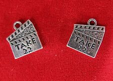 "5pc ""Take 22"" movie charms in antique silver (BC1066)"