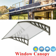 """New listing 40""""x40""""Awning Canopy Window Door Complete Sheet Patio Outdoor Polycarbonate Gray"""