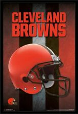 NFL Football Photo Poster: CLEVELAND BROWNS HELMET LOGO  24 inch by 36 inch  A