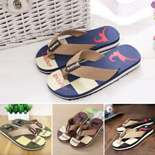 Para Hombres Playa Plano Flip Flops Zapatillas Zapatos Casuales interior al aire libre de Verano Sandalias