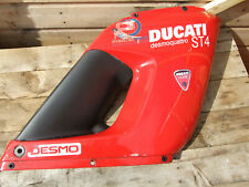 Ducati ST2 ST4 front fairing Right upper half Red damaged