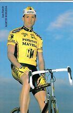 CYCLISME carte cycliste JUAN RAMON MARTIN ROBLEDA équipe PUERTAS MAVISA
