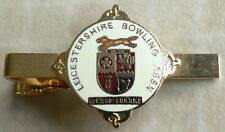 LEICESTERSHIRE BOWLING ASSOCIATION-ENAMEL TIE PIN/BADGE