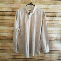 Orvis Mens Long Sleeve Button Down Multicolor Gingham Plaid Shirt Size XL EUC