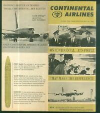 1964 Continental Airlines May 24 Schedules