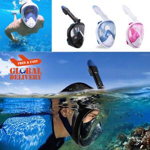 Diving Swimming Snorkeling Mask Underwater Scuba Anti Fog Full Face Goggles