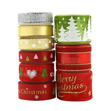 9 Styles CHRISTMAS RIBBON BUNDLES GIFT WRAPPING, WREATH, DECORATIONS, CRAFTS