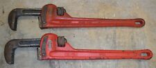 "LOT of 2 RIDGID • Pipe Wrench (es) 18"" - Great Used Condition *rk3"