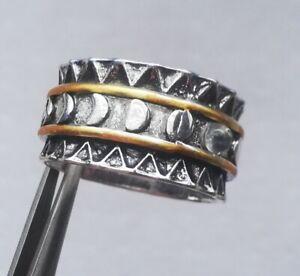 Ausgefallener breiter Silber Ring 925 gepunzt -Gr. 55¼ / 17,6 mm Ø