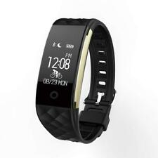 S2 Heart Rate GPS Waterproof Smart Bracelet Watch Wristband Sport Fitness BLACK