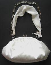 DRAP BARCELONA Damen Abendtasche Clutch-Tasche in Weiß