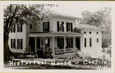 VTG Historical 2 Story House in Castile New York NY RPPC Photo Postcard A6