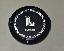 Genuine Canon FD 1980 Olympic Winter Games C 52mm Snap-On Front Lens Cap (#3008)