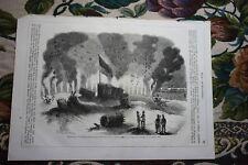 1855 Incisione 25 / Olmütz Militare Flatterminen Miniere Repubblica Ceca
