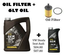 5lt + 1lt Fully Synthetic Engine Oil + Oil Filter 5w/30 504.00 507.00 Long Life