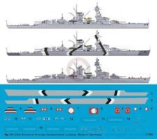 Peddinghaus 1/700 Lützow (ex-Deutschland) Heavy Cruiser Markings (3 vers.) 3305
