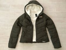 New Hollister Abercrombie & Fitch Women Sherpa-Lined Puffer Jacket Coat- Olive S