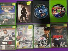 Original Xbox Sports Game Assorted Lot Used Baseball Madden Wrestling NHL More