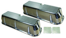 SB Ford Polished Aluminum Tall Smooth Valve Covers ( NO HOLE ) 289 302 351W SBF