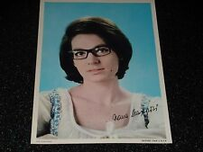 Foto - Nana Mouskouri - Publicite Caltex - Años 1960-30cm X 21CM