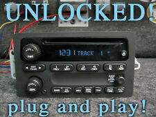 UNLOCKED! 03 04 05 06 CHEVY SIERRA TAHOE YUKON SILVERADO STEREO RADIO CD Player