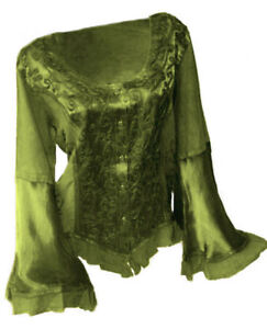 Gothic Mittelalter LARP Top Shirt Bluse Artemis verschiedene Farben 38 40 42