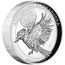 Australien - 1 Dollar 2018 - Kookaburra - High Relief - 1 Oz Silber PP