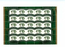 Weeda Canada 1883 Vf mint Nh sheet of 25, 2001 Lunar Year of the Snake Cv $28