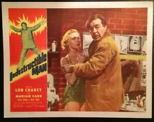 Indestructible Man 1956 lobby card  Lon Chaney Jr. beautiful condition!