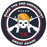 Trump Make The 2nd Amendment Great Again Vinyl Sticker Car Truck Window Decal