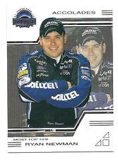 Ryan Newman, Press Pass Eclipse Accolades Card, 2003, NASCAR  # 34
