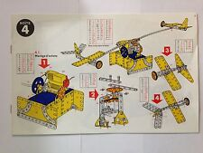 MECCANO INSTRUCTION MONTAGE BOITE N°4 FERRY MANEGE D'AVIONS NOTICE MANUEL