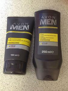 AVON MEN 2-IN-1 SHAVE & WASH AND 3-IN-1 SHAMPOO, CONDITIONER & BODY WASH