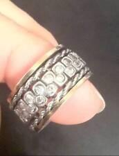 Israeli Design Silver Spin Spinner Spinning Swivel Ring