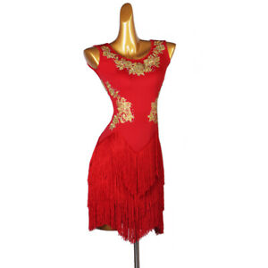 Ballroom Women's Latin Rumba Tango Salsa Samba Competition Dance Dress LQ249