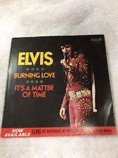 Original 45 Record (Sleeve )Elvis Presley RCA (Burning Love) 1972