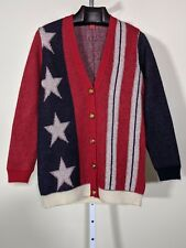 Tommy Hilfiger Collection Mohair Blend American Flag Cardigan XS Oversized Fit