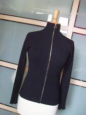 NEU ZARA  coole Strickjacke Pullover Dunkelblau mit Reißverschluss Gr  S 36 38