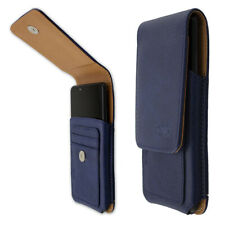 caseroxx Outdoor Case for HTC Wildfire X in blue made of real leather